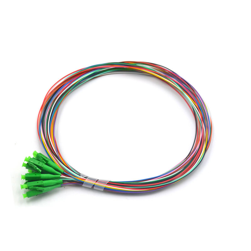 LC APC 12 Cores Fiber Optic Pigtail With High Precision Ceramic Ferrule